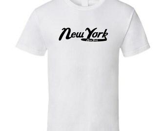 New York City Vintage Retro Logo T-shirt