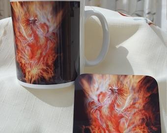 Phoenix Mug & Coaster Set