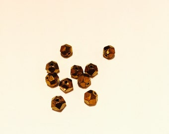 Amazing faceted Austrian vintage bronze finish beads - 20 Pieces - #27