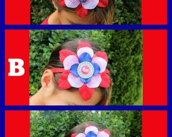 Red, White & Blue Flower Headbands