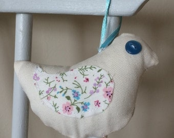 fabric hanging bird