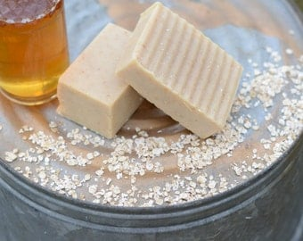 Oatmeal and Honey Goat Milk Soap- All Natural Soap, Handmade Soap, Homemade Soap, Handcrafted Soap