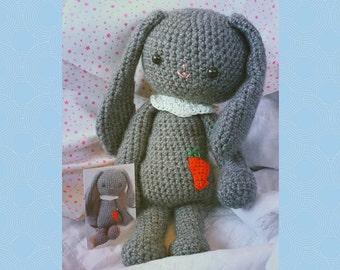 Lapinou PDF amigurumi bunny crochet pattern