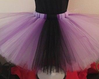 Purple and Black Teen and Adult Tutu Skirt, Plus Size Tutu, Adult Tutu, Teen Tutu, Purple Tutu