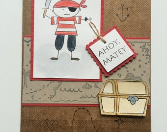 Ahoy Matey Pirate & Treasure Chest