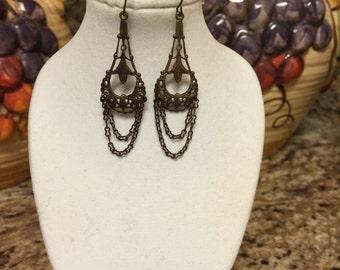 Vintaj Brass Filigree Earrings
