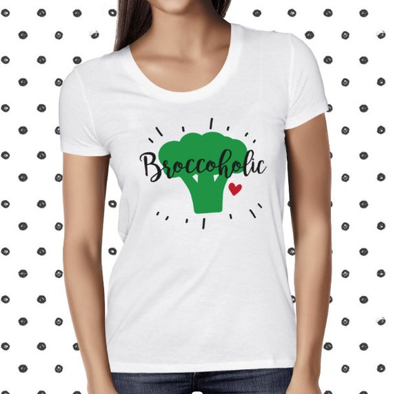 Vegan Shirt - Broccoholic - Broccoli - Vegan Tshirt - Vegan Tee - Womens Vegan Clothing - Healthy - Funny Tee - Vegetarian - Plant-based