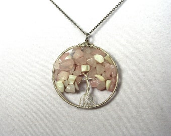 Cherry Blossom Tree of Life Pendant