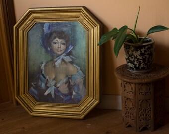 1970's • Vintage Framed Painting • Portrait