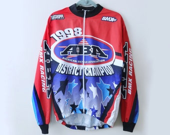 Graphic Red and Blue BMX jacket