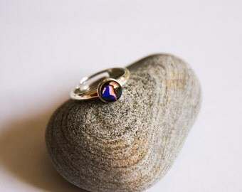 Sterling Silver Black Resin Ring