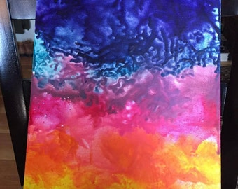 Sunset Inspired Crayon Melt