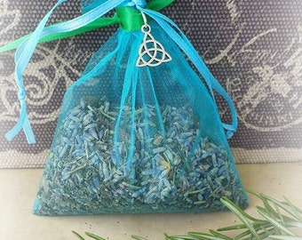 Safe Travel Mojo Bag, Travel Amulet Bag, Travel Spell, Herbal Bag, Gris Gris Bag, Sachet Bag, Witchcraft Supplies, Wicca Charm Bag