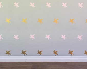 Unicorn Wall Decals - Removable vinyl wall decals/stickers
