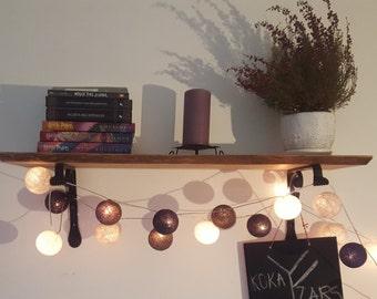 Floating shelves, Wooden shelves, Reclaimed wood shelves, Hanging shelves, Rustic home decor, Wall shelving, Oak, Steel, Adjustable