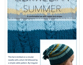 Norwegian Summer Hat, knitting pattern
