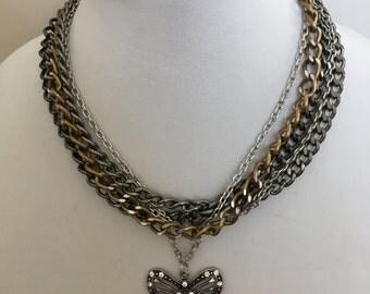 Chain Necklace, Pendant Necklace, Multi Chain Necklace, Angel Necklace