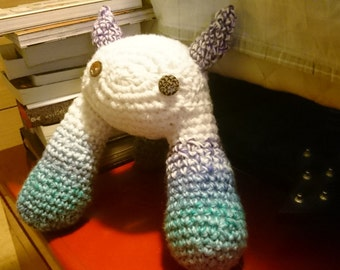 White, Blue, and Purple Monster, Crochet