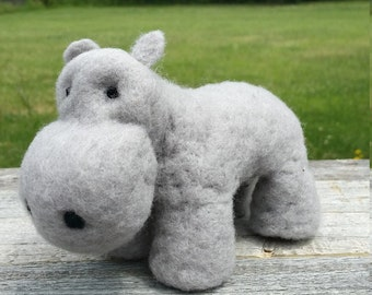 Needle Felted Hippo
