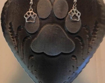 Puppy Paws! Sterling Silver Earrings