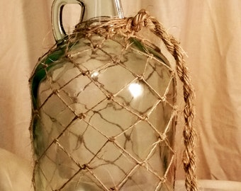 Wine Jug Knotted Sisal