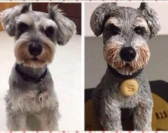 Schnauzer Custom Dog Cake Topper Figurine