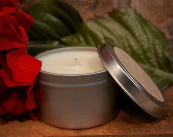 8 Ounce Tin 100% Soy Holiday/Winter Candle