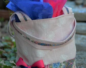 Small Pink & Blue Paisley Gift Bag