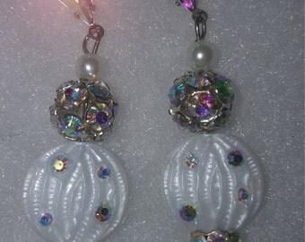 Fancy Earrings w/Swarovski Crystals