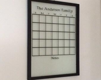 Personalized Glass Calendar