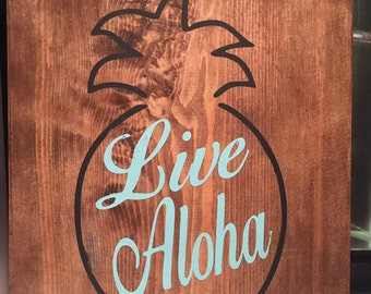 Items Similar To Simple Live Aloha With Tropical Flower