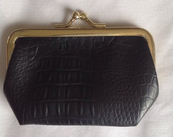 Vintage Black Leather Coin purse