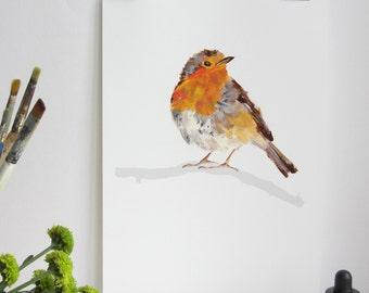 Garden Bird Print - Robin