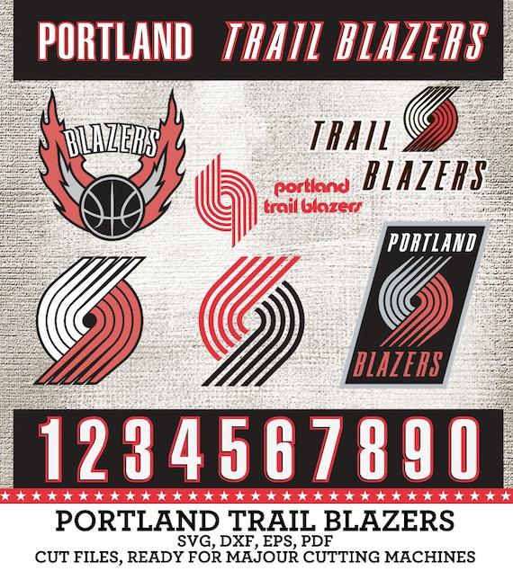 Portland Trail Blazers Art: Portland Trail Blazers Basketball Logo Numbers By