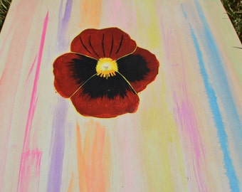 Pansy Flower Acrylic Piece