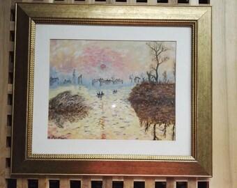 My impression of Monet's Soleil Lavant in oils.