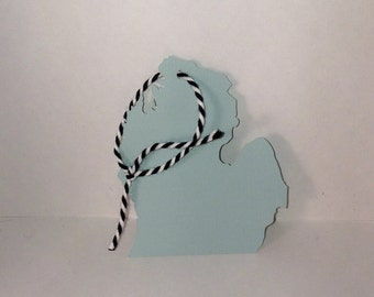 Michigan Mitten Gift Tags // 5 pieces