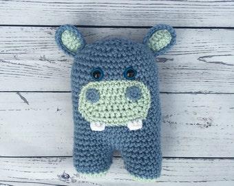 Stuffed Hippo, Toy Hippo, Crocheted Hippo, Crochet Hippo, Hippo Stuffed Animal, Plush Hippo, Amigurumi Hippo, Hippo Toy, Mylo Hippo