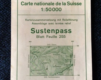 Swiss Alps Map - Sustenpass 1:50,000