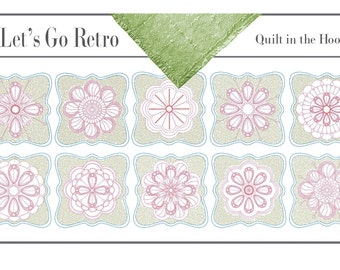 Quilt in the Hoop Machine Embroidery Designs 10 Blocks 4 options
