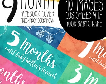 Facebook Cover Baby Announcement Countdown Graphics   10 countdown covers