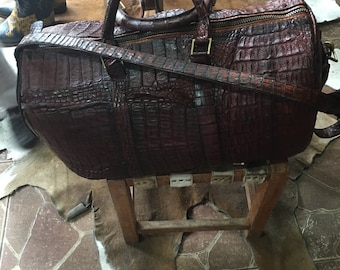 Hand-made alligator handbags