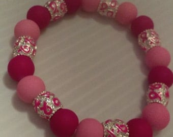 Pink Breast Cancer awareness bracelet