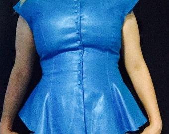 Blue vintage top by Arpeja
