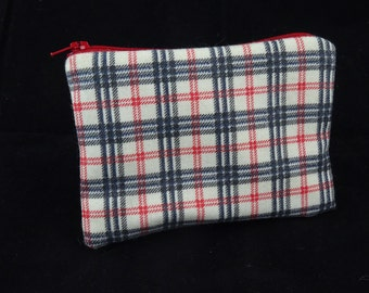 Red and White Checked Coin Purse