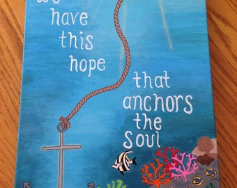 Hope that Anchors the Soul Canvas