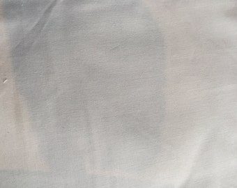 Light Gray Cotton Fabric -- Solid Grey Fabric