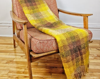 Midcentury Mohair and Wool Blanket / Made in Scotland