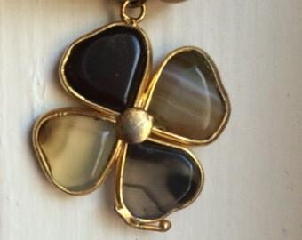 Four leaf clover charm Brazilian pendant