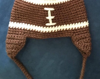 Football Hat with Earflaps & Ties